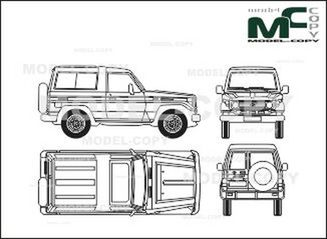 Toyota LandCruiser 400 FRP-Top - drawing