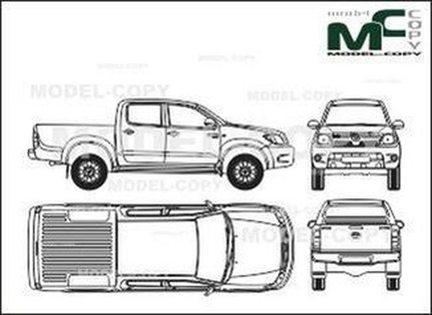 Toyota 4x4 Vector >> Toyota Hilux Double Cab 4x4 (2006) - dibujo - 28606 - Model COPY