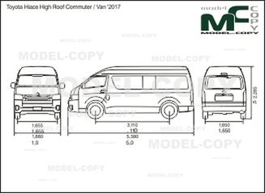 toyota hiace high roof commuter    van  u0026 39 2017 -  u0447 u0435 u0440 u0442 u0435 u0436 - 41860