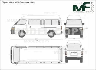Toyota HiAce H100 Commuter '1992 - 2D drawing (blueprints)