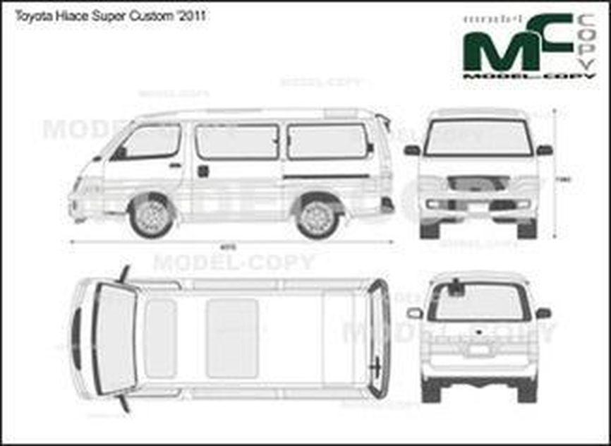 Toyota Hiace Super Custom '2011 - 2D drawing (blueprints)