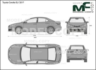 Toyota Corolla EU '2017 - 2D drawing (blueprints)