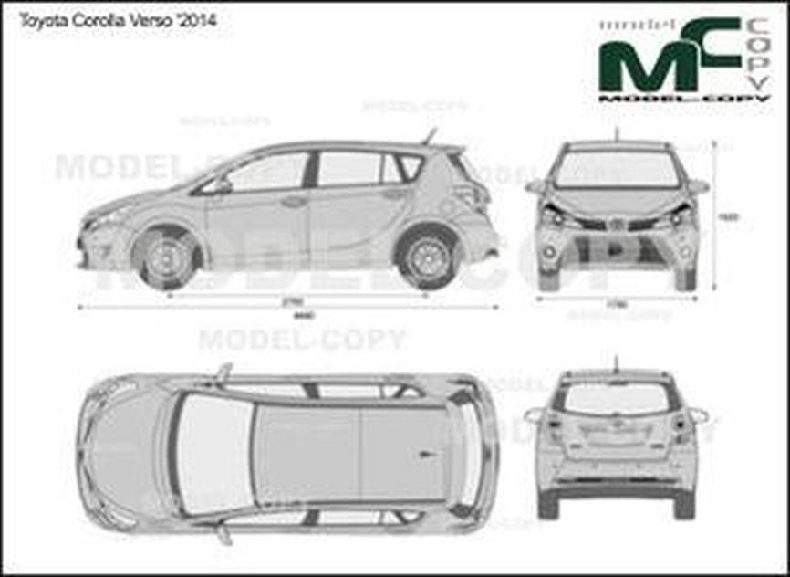 Toyota Corolla Verso '2014 - 2D drawing (blueprints)