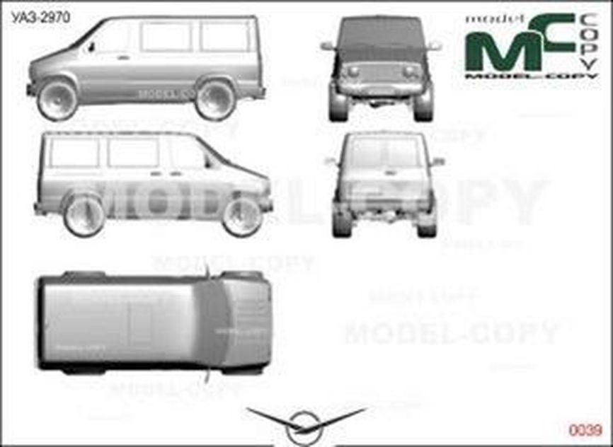 UAZ-2970 - 2D drawing (blueprints)