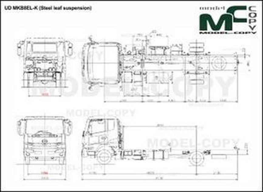 UD MKB8EL-K (Steel leaf suspension) - 2D kresba