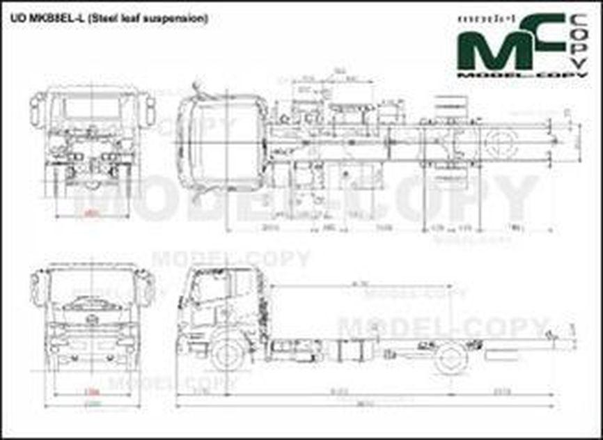 UD MKB8EL-L (Steel leaf suspension) - drawing