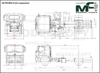 UD PKC8EC-H (Air suspension) - drawing