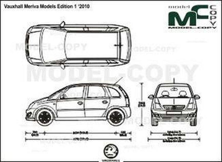 Vauxhall Meriva Models Edition 1 '2010 - drawing