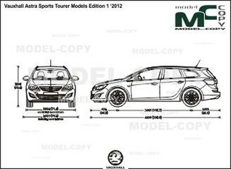 Vauxhall Astra Sports Tourer Models Edition 1 '2012 - drawing