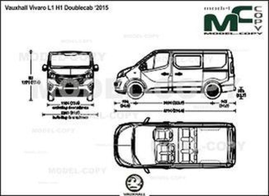 Vauxhall Vivaro L1 H1 Doublecab '2015 - 2D kresba