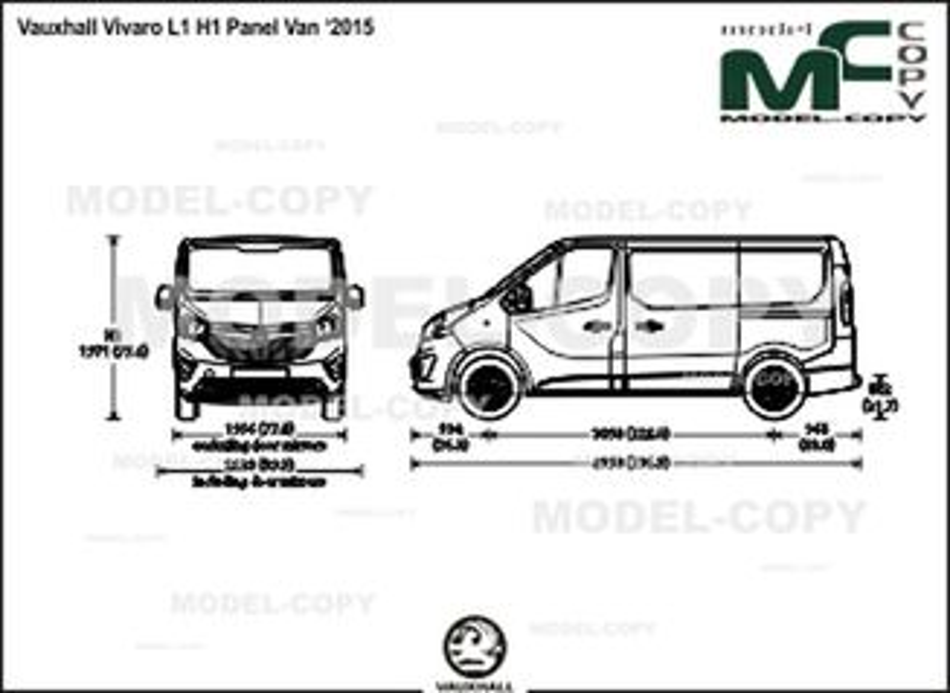 Vauxhall Vivaro L1 H1 Panel Van '2015 - drawing
