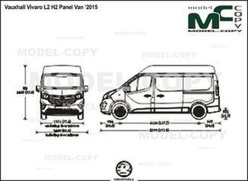 Vauxhall Vivaro L2 H2 Panel Van '2015 - drawing