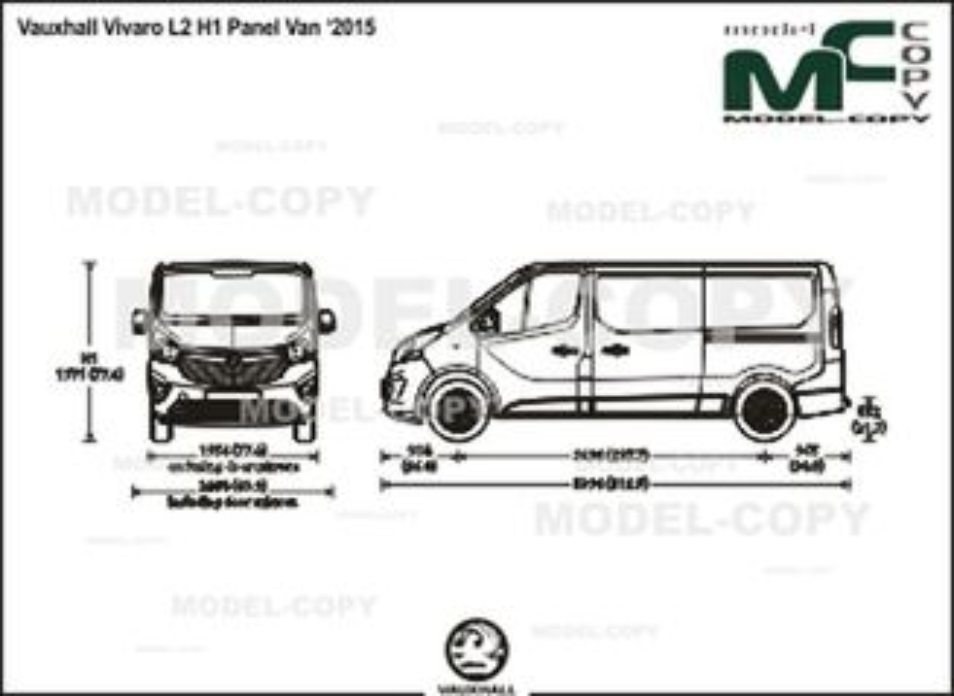 Vauxhall Vivaro L2 H1 Panel Van '2015 - drawing