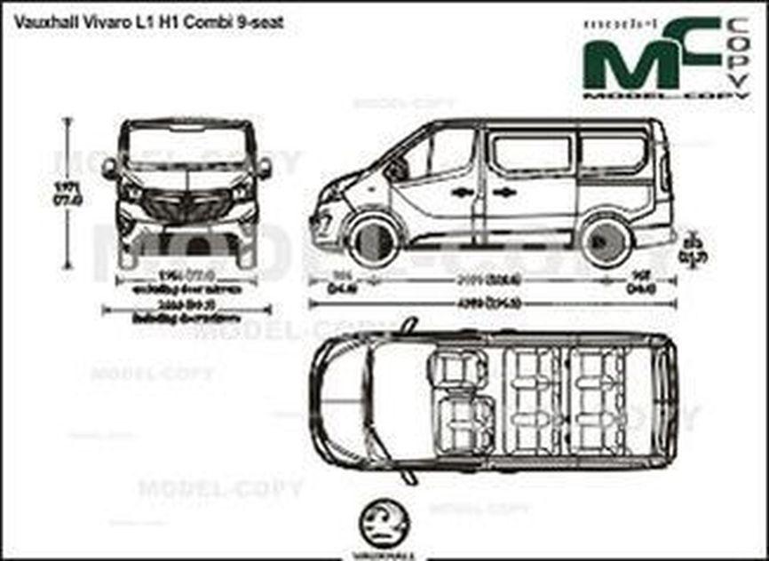 Vauxhall Vivaro L1 H1 Combi 9-seat - drawing