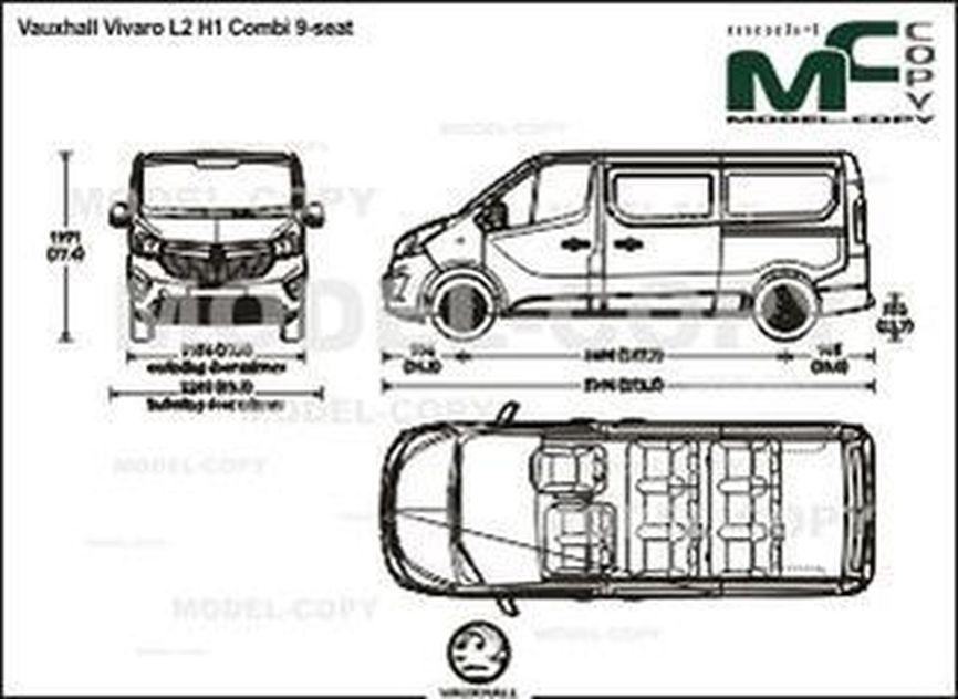 Vauxhall Vivaro L2 H1 Combi 9-seat - drawing