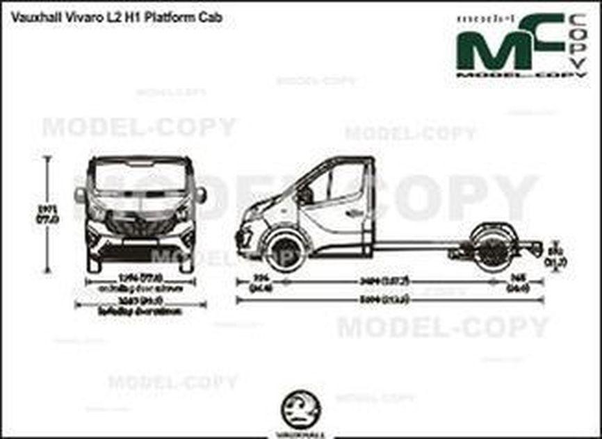 Vauxhall Vivaro L2 H1 Platform Cab - drawing