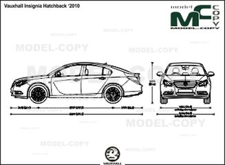 Vauxhall Insignia Hatchback '2010 - drawing