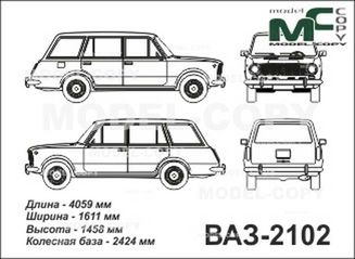 vaz-2102  lada  - drawing - 25465