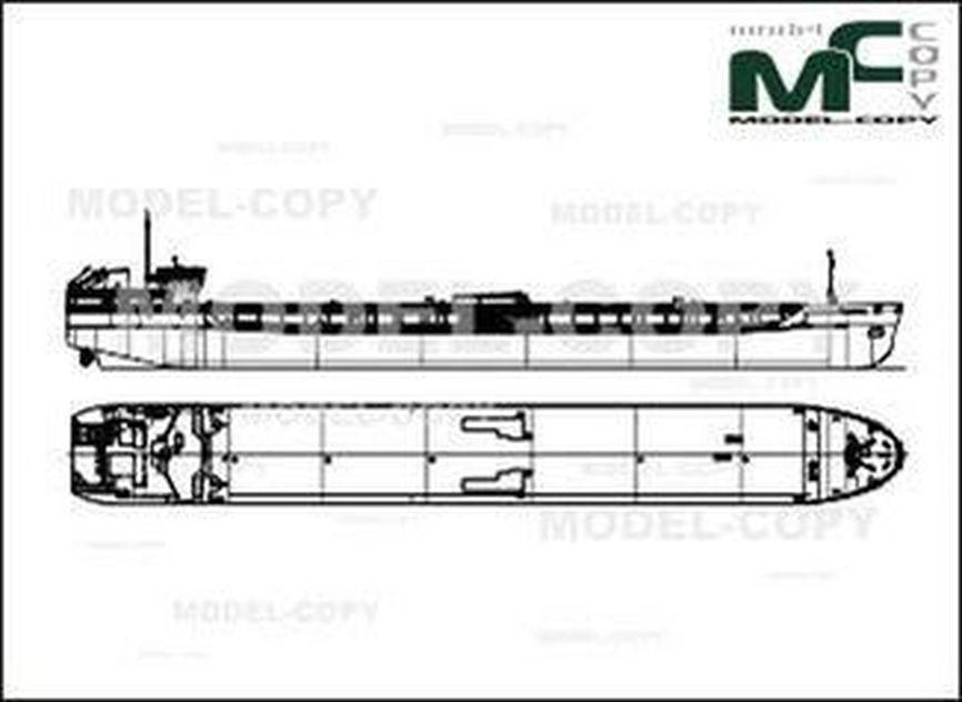 Tanker project RST22 - 2D drawing (blueprints)
