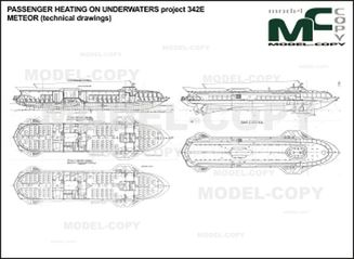PASSENGER hydrofoil project 342E METEOR (technical drawings) - drawing