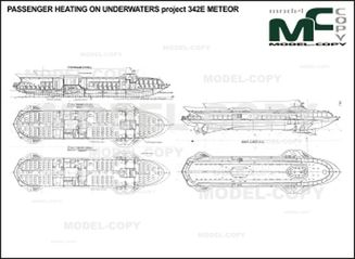 PASSENGER hydrofoil project 342E METEOR - drawing
