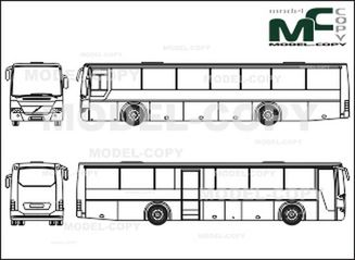 Volvo B12b Overland Bus Drawing 28731 Model Copy