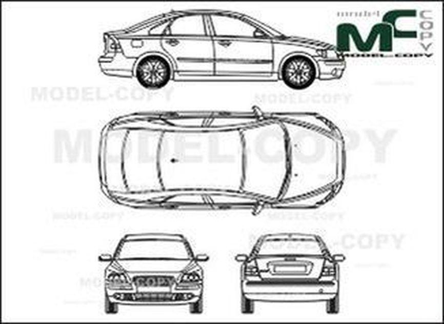 Volvo S 40 (2004) - 2D drawing (blueprints)
