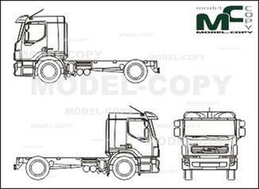Volvo FE, driver's cab medium (2006) - drawing