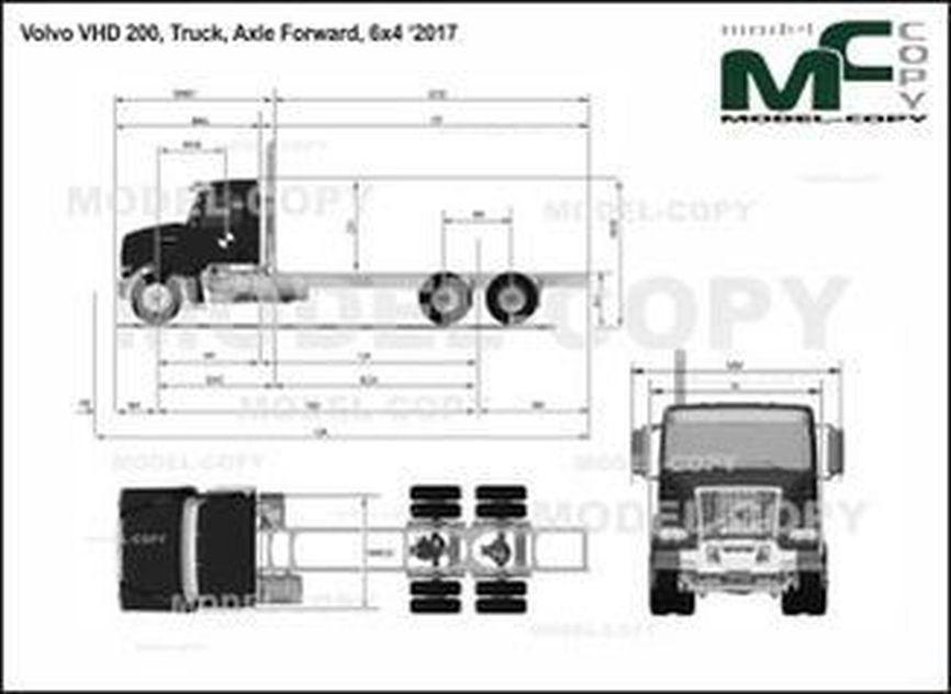 Volvo VHD 200, Truck, Axle Forward, 6x4 '2017 - drawing