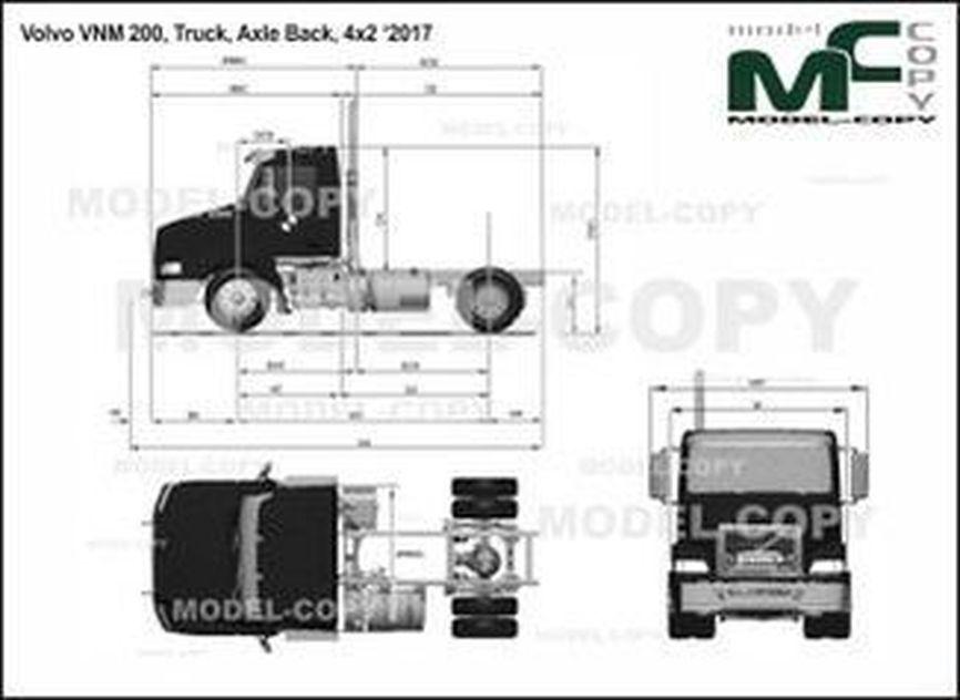 Volvo VNM 200, Truck, Axle Back, 4x2 '2017 - drawing