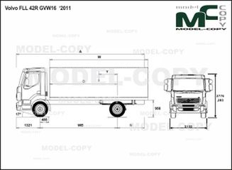 Volvo FLL 42R GVW16 '2011 - drawing