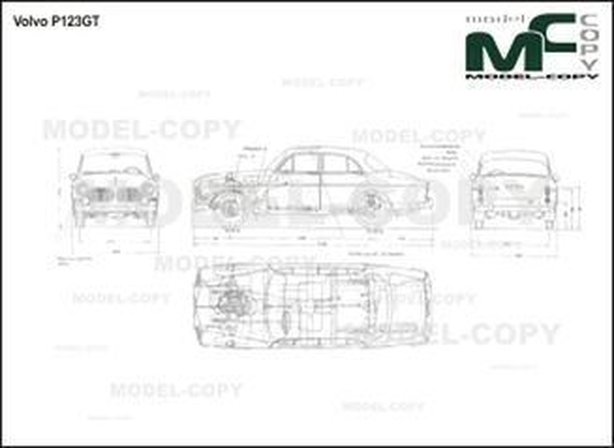 Volvo P 123 GT - 2D drawing (blueprints)