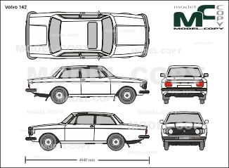 Volvo 142 - 2D drawing (blueprints)
