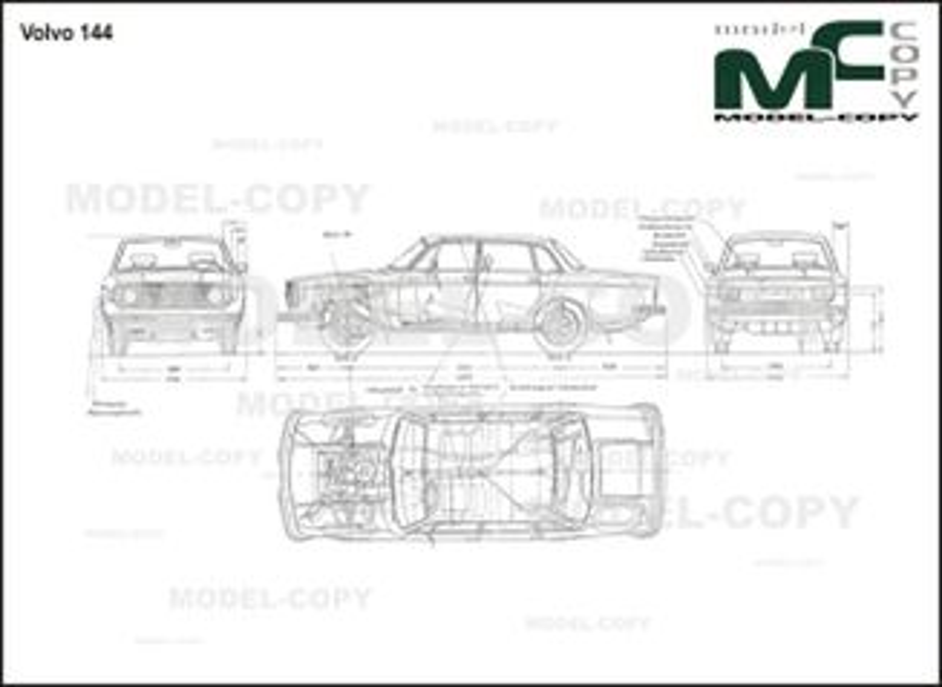Volvo 144 - 2D drawing (blueprints)