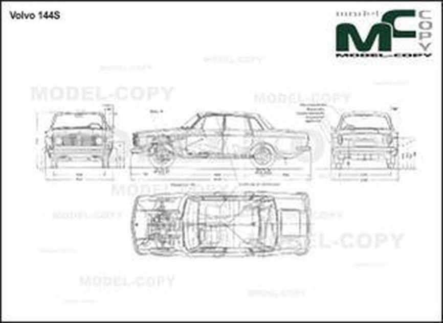Volvo 144 S - Desenho 2D
