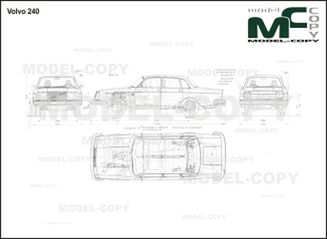 Volvo 240 - 2D drawing (blueprints)
