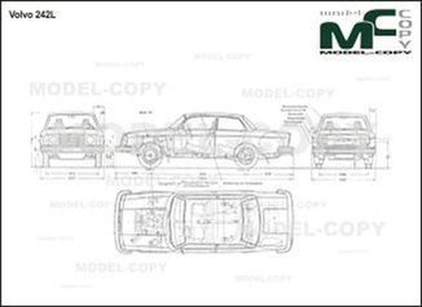 Volvo 242 L - 2D drawing (blueprints)