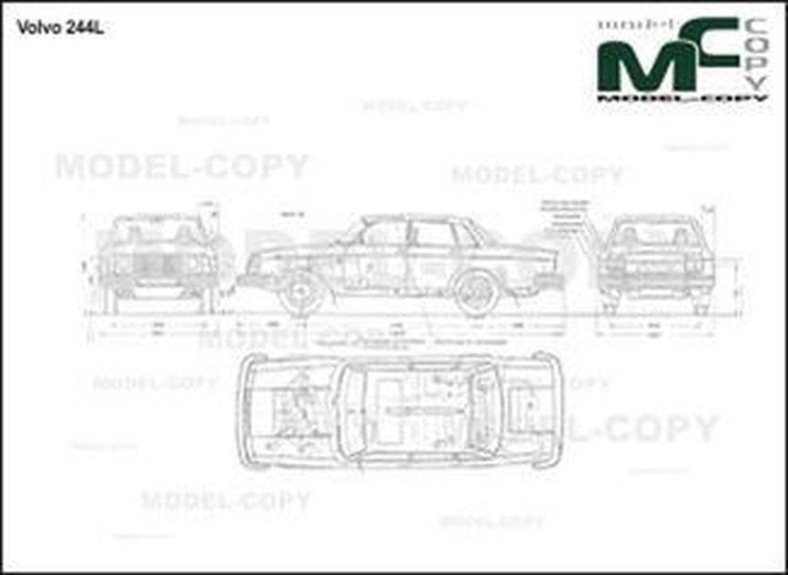 Volvo 244 L - 2D drawing (blueprints)