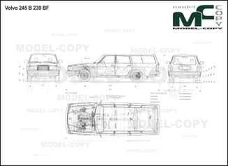 Volvo 245 B 230 BF - 2D drawing (blueprints)