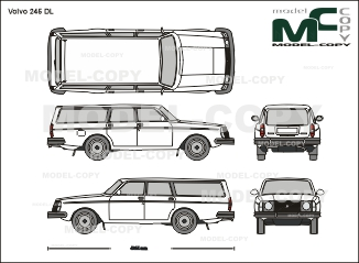 Volvo 245 DL - 2D drawing (blueprints)
