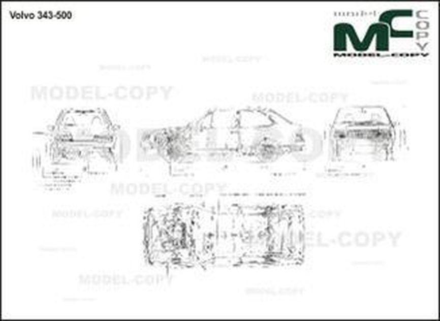Volvo 343-500 - 2D drawing (blueprints)