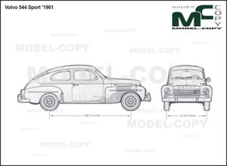 Volvo 544 Sport '1961 - 2D drawing (blueprints)