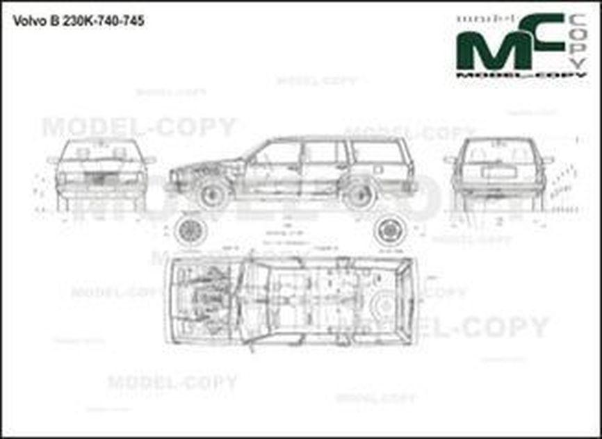 Volvo B 230K-740-745 - 2D drawing (blueprints)