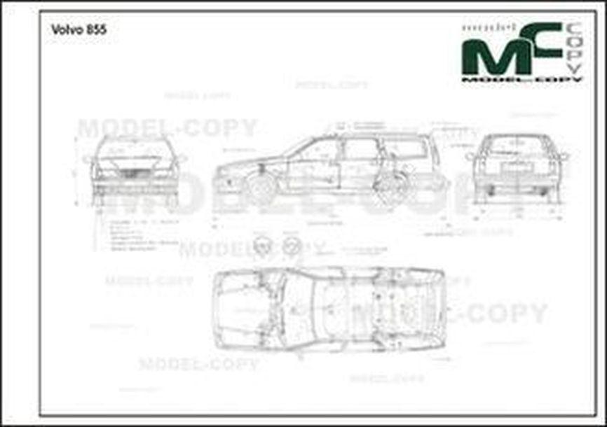 Volvo 855 - 2D drawing (blueprints)
