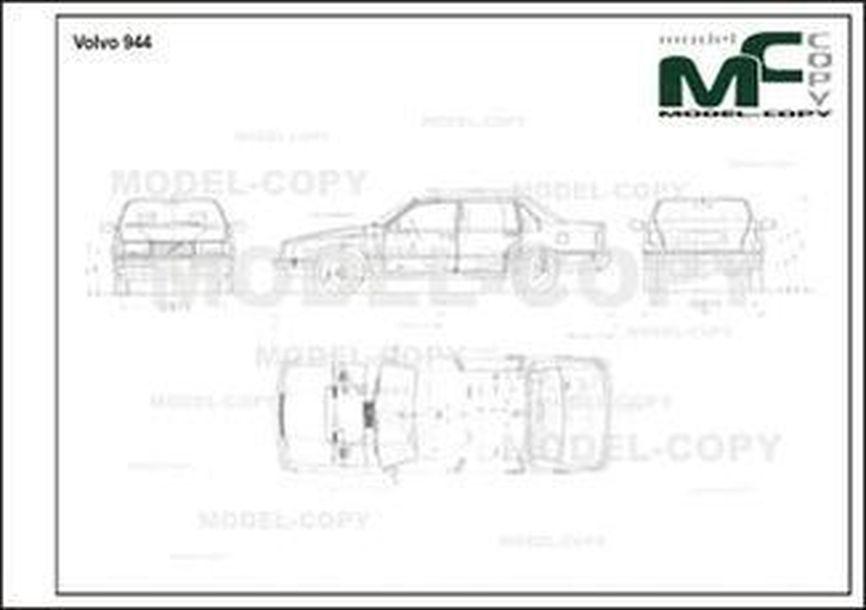 Volvo 944 - 2D drawing (blueprints)