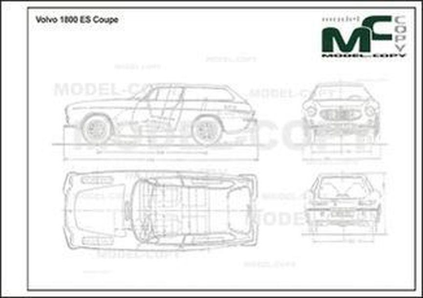 Volvo 1800 ES Coupe - 2D drawing (blueprints)