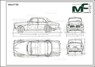 Volvo P 120 - 2D drawing (blueprints)