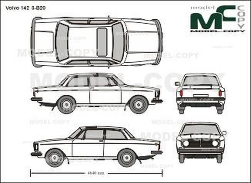Volvo 142 S-B20 - 2D drawing (blueprints)