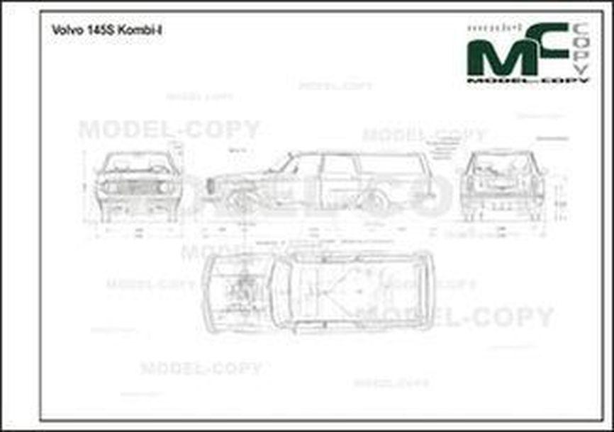 Volvo 145S Kombi-I - 2D drawing (blueprints)