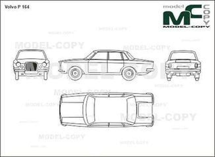 Volvo P 164 - 2D drawing (blueprints)